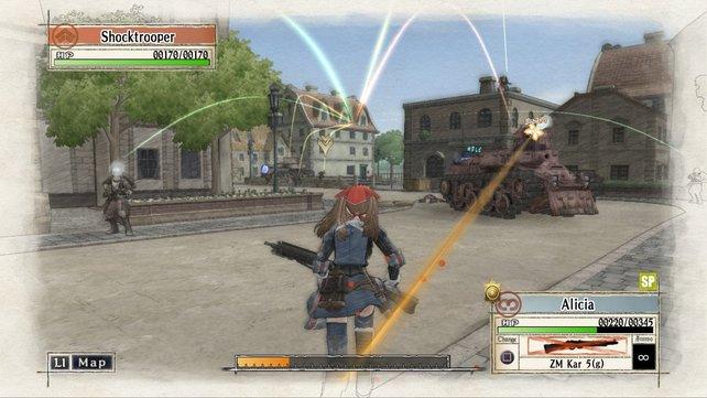"""Das so genannte """"BLiTZ""""-Kampfsystem soll auch in Valkyria Chronicles 4 zum Einsatz kommen."""
