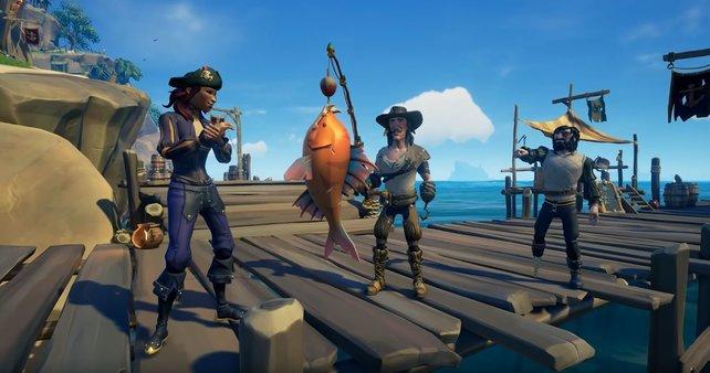 Gut gemacht! Fische könnt ihr essen oder bei der neuen Fraktion im Tausch gegen Münzen abgeben.