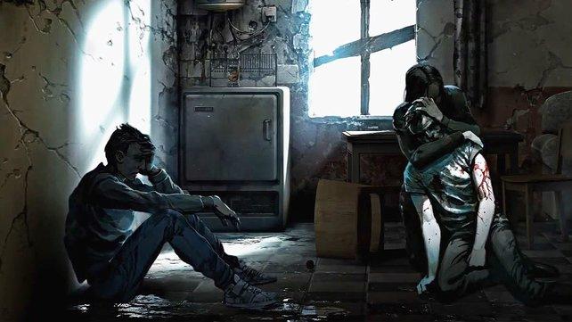 In This War of Mine schlüpft der Spieler ausnahmsweise nicht in die Rollen von Soldaten, sondern in die von Zivilisten, die in einem Kriegsgebiet um das Überleben kämpfen müssen.