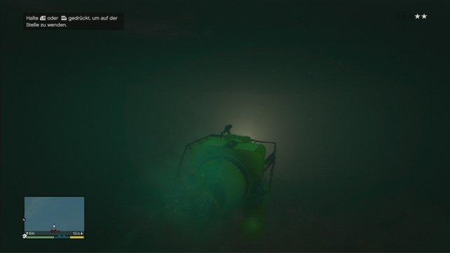 Und siech mit dem U-Boot aus dem Staub machen.