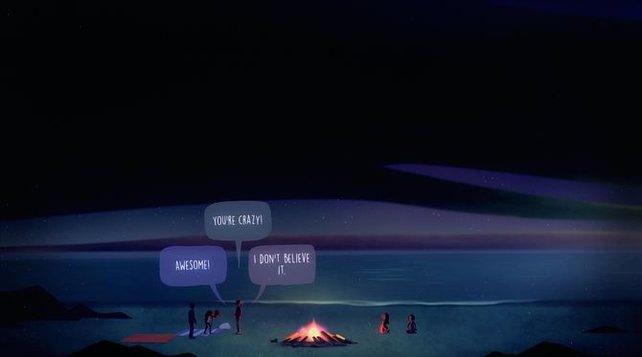 An dieser Stelle verläuft der Abend noch ruhig für die fünf Freunde.