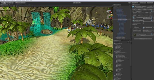 Ein Blick in die aktuelle Entwickler-Umgebung des Spiels.