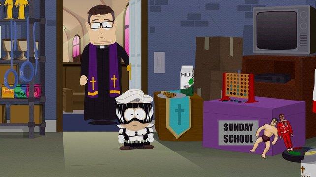 Priester Maxi bittet euch in den Lagerraum der Kirche. Der einzige nicht-päddophile Pfarrer in South Park ahnt nicht, das seine Glaubensbrüder nur darauf gewartet haben.