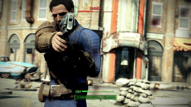 """Recht schnell seid ihr nur noch """"overpowered"""": Fallout 4."""