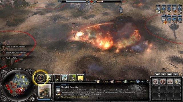 Im Kampf gegen Infanterie ist der Crocodile-Flammenpanzer eine tödliche Waffe.