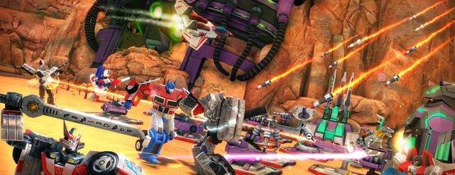 In Transformers: Earth Wars könnt ihr in die Rolle der ikonischen Autoroboter schlüpfen.