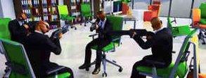 Last Man Sitting: Absurdes Spiel nimmt Battle-Royale-Spiele auf die Schippe