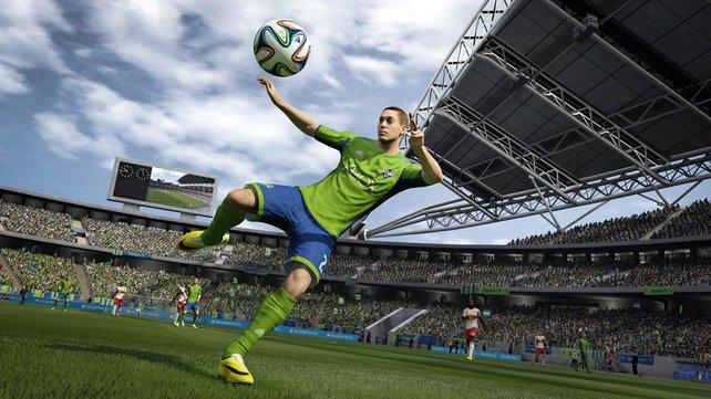 Clint Dempsey - der amerikanische Nationalspieler im Trikot der Seattle Sounders.