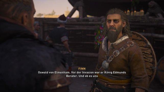 In Norwic, der größten Stadt East-Englas, trefft ihr auf den Statthalter Finn, der euch an den angehenden König verweist.