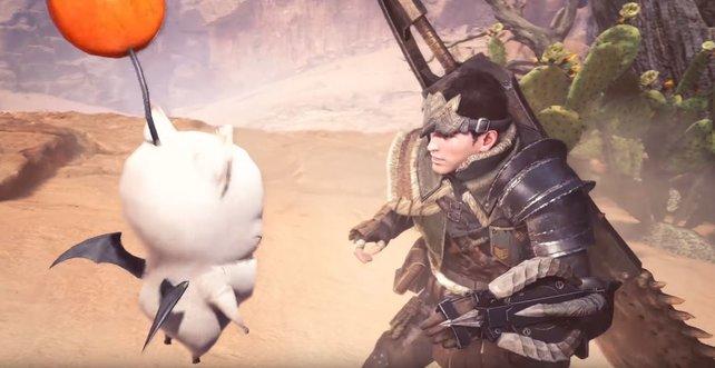 """Nanu, was macht der denn hier? Das """"Final Fantasy""""-Event verschmilzt die Neue Welt mit Eorzea."""