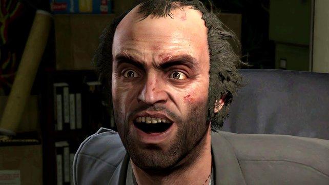 Bei dieser Aktion staunt selbst Trevor nicht schlecht. Bild: Rockstar Games