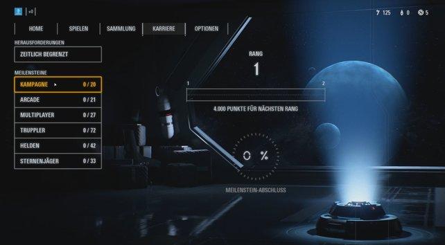 Im Menü von SW: Battlefront 2 könnt ihr die Belohnungen für die erreichten Meilensteine abholen.