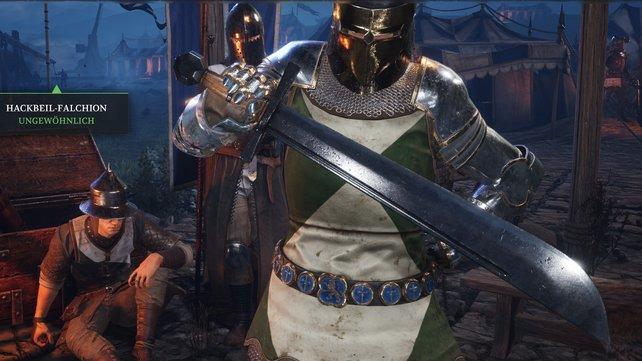 Das Falchion kann vom Ritter und vom Fußsoldaten ausgerüstet werden.