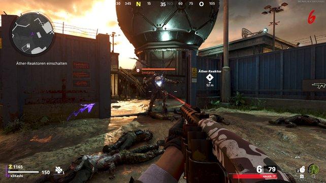 Der Imitator-Zombie lässt irgendwann das zweite Teil der Wunderwaffe, den Waffenlauf, fallen.