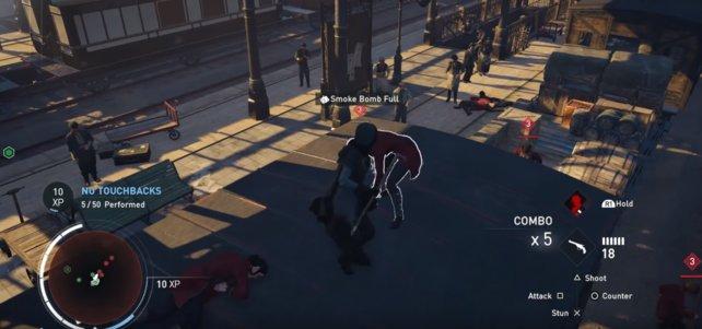 So sieht ein Kampf in einer Eisenbahnstation aus.