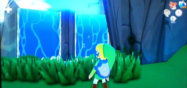 Hinter dem Wasserfall in Tanntopia versteckt sich Makorus - ihr könnt ihn erst treffen, wenn ihr den vorhergehenden Tempel abgeschlossen habt.
