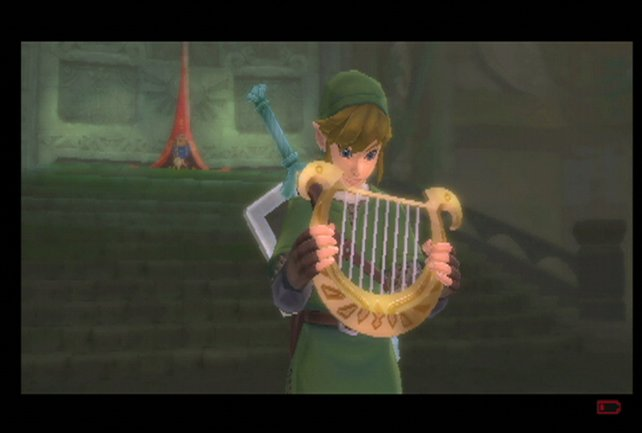 Mit der Harfe könnt ihr ab sofort bei blauen Schmetterlingen ein Lied spielen, um Geheimnisse freizulegen.