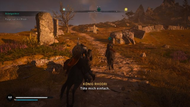 Nachdem Ivar König Rhodri besiegt hat, hat er etwas ganz besonderes für ihn im Sinn. Hebt den König auf und folgt Ivar.