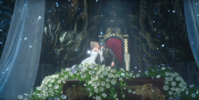Das Ende von FF 15 zeigt Luna und Noctis offenbar bei ihrer Hochzeit.