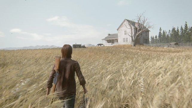 An einem anderen Tag kehrt ihr von der Jagd zurück und seht, dass ihr Besuch habt.