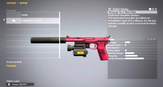 Neben zahlreichen Zubehörteilen, gibt es farbenfrohe Tarnmuster für eure Waffen.