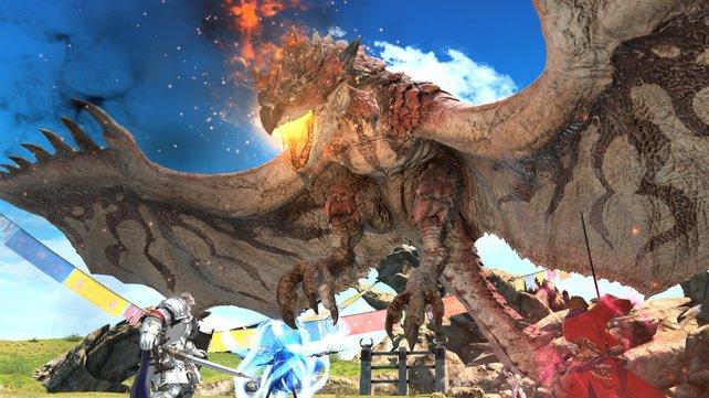 Final Fantasy 14: Kooperations-Event mit Monster Hunter - World