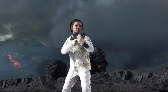 Prinzessin Leia kann mit ihrem Blaster umgehen und sie ist die geborene Anführerin.