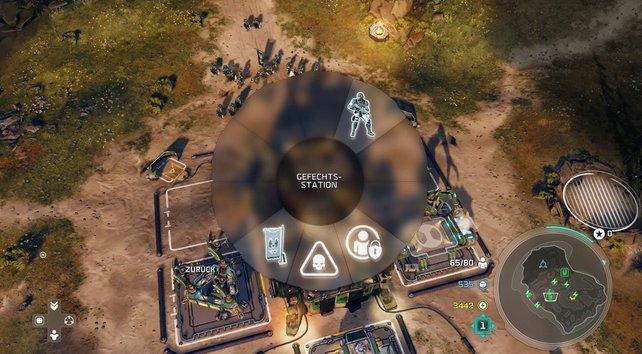 Neben der Karte werden euch die Ressourcen angezeigt, die euch zur Verfügung stehen.