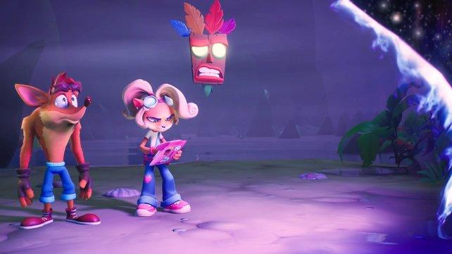 Crash und Coco sehen zwar wie Crash und Coco aus, verhalten sich aber wie Charaktere aus dem Kinderfernsehprogramm.