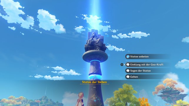 Ihr könnt das Element eurer Hauptfigur nur bei den Statuen der Sieben ändern.