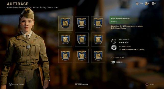 Erreicht 100 Abschüsse in einem beliebigen Modus und kassiert dafür 3.000 EP. So könnt ihr im Mehrspielermodus von Call of Duty - WW2 ganz sicher schnell leveln.