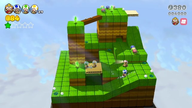 """Die """"Kapitän Toad""""-Level sind im Multiplayer definitiv chaotischer, mehr Spaß machen sie dadurch aber nicht."""