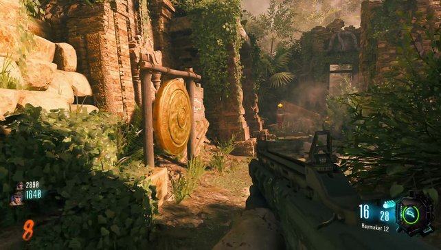 Das Areal rund um einen antiken Dschungel-Tempel wurde optisch stilecht aufgebohrt.