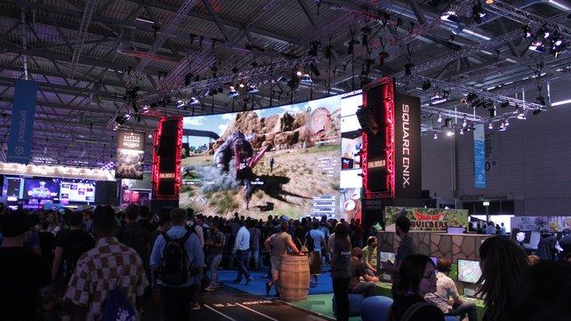 Ein echter Hingucker: Final Fantasy wird hier stilecht und überlebensgroß präsentiert.