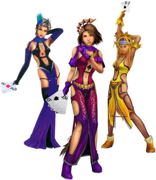 Yuna, Rikku und Paine in Final Fantasy X-2