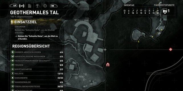 Karte: Geothermales Tal (1/2).