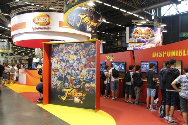 Der gut besuchte Stand von Bandai Namco.