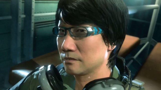 Nur echt mit Designerbrille: Hideo Kojima ist das Ziel einer Rettungsmission.