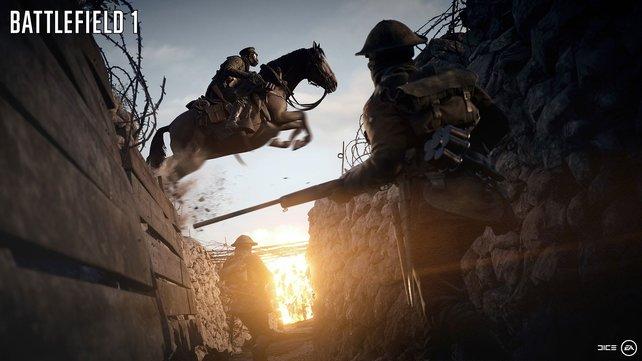 Mit Pferden über Schützengräben: so stellt sich Dice den Ersten Weltkrieg im Spiel vor.