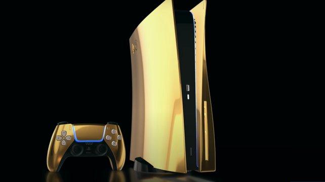 Die goldene PS5 hat bereits jetzt einen bekannten Preis. Und dieser liegt deutlich über der Standard-Variante von Sony. (Bildquelle: Truly Exquisite.)