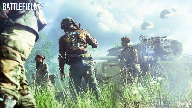 """Ihr gebt einem ganzen Trupp Befehle. Die """"Squads"""" begleiten euch durch die Schlachten."""