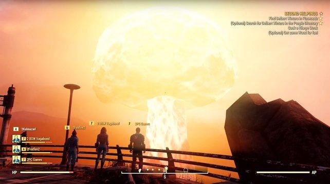 Was anderen ein Sonnenuntergang ist, ist den Spielern von Fallout 76 ein Atombombeneinschlag aus nächster Nähe.