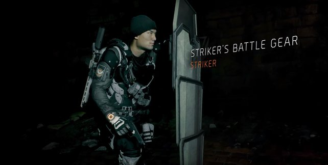 Gear-Set: Kampfausrüstung des Stürmers.