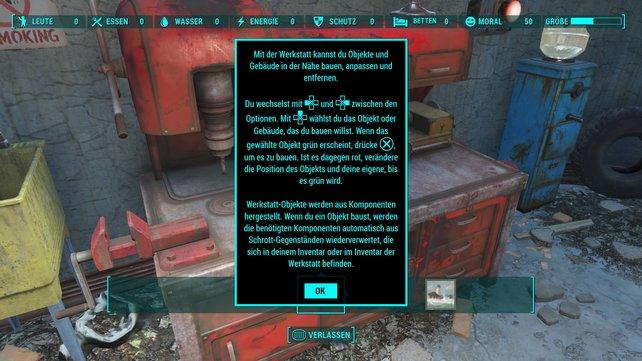 An dieser Werkstatt könnt ihr mit dem Siedlungsbau bei Fallout 4 beginnen.