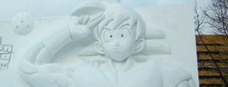 Dragon Ball: Riesige Schneeskulptur in Japan