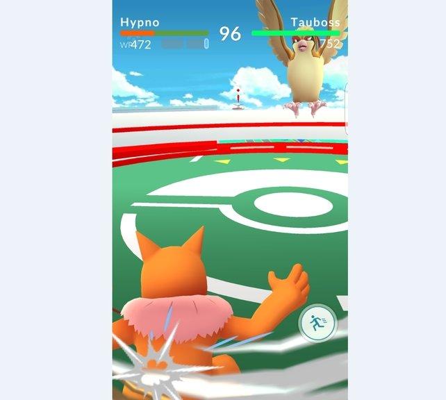 In der Arena beweist ihr, wer das stärkere Pokémon besitzt.