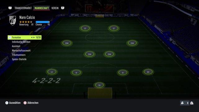 Die potenziell beste Formation in FIFA 22: das 4-2-2-2.