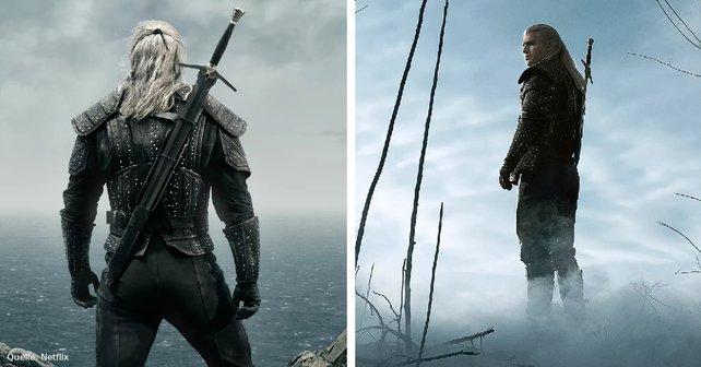 Auffällig ist, dass hier Geralt nur ein Schwert hat, anstelle von zweien, wofür Hexer bekannt sind.
