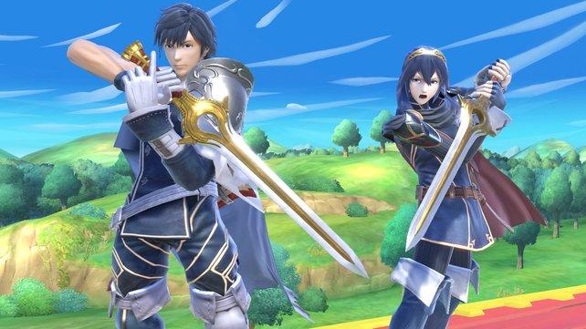 """Lucina und Chrom sind sogenannte """"Echo-Kämpfer"""". Ihr Kampfverhalten basiert auf anderen Charakteren."""