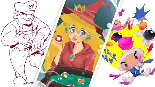 Diese drei Zeichnungen haben Alexander Rubzow, Leanna Geideck und Perci Chen (v.l.) für uns angefertigt.